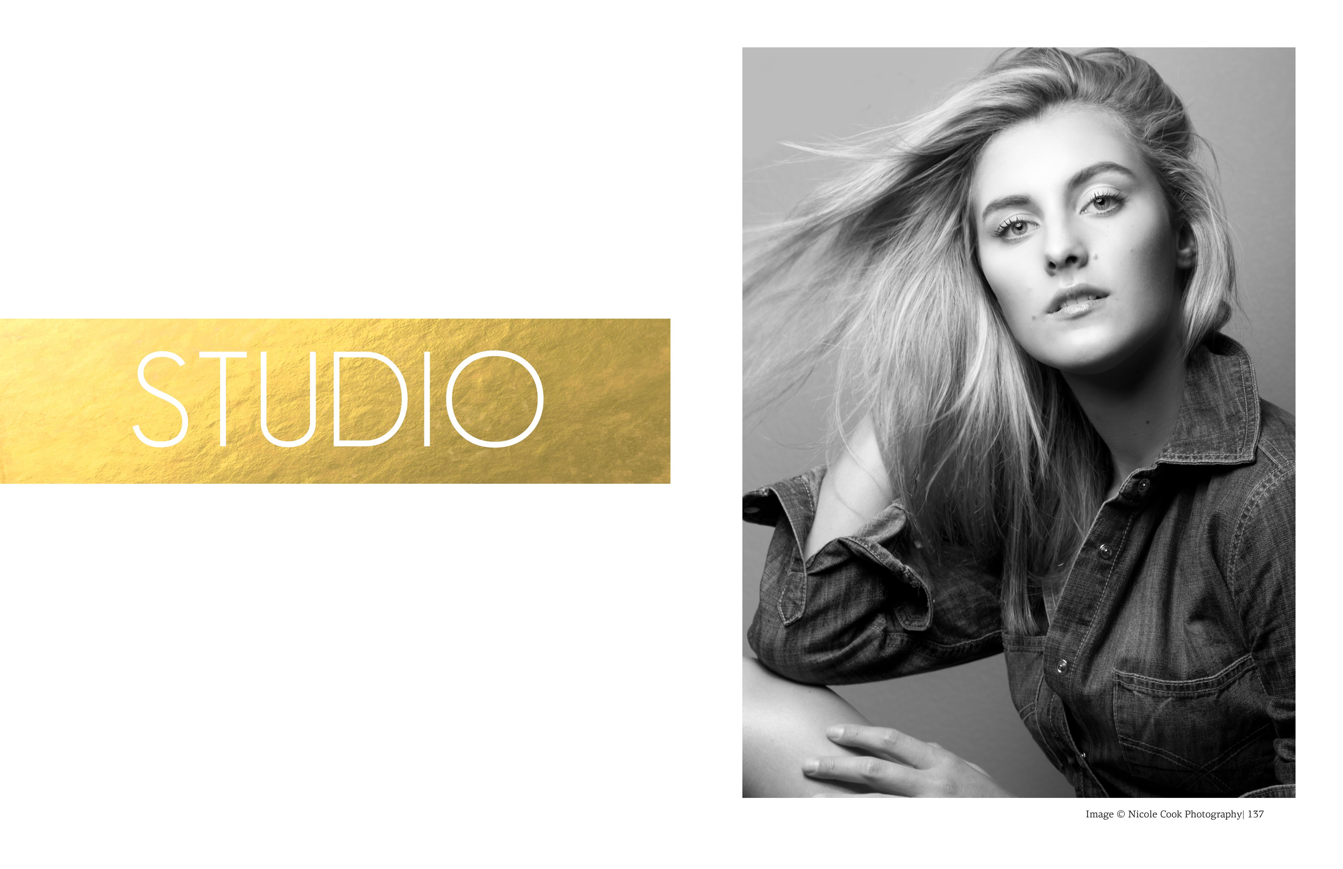 black and white studio image