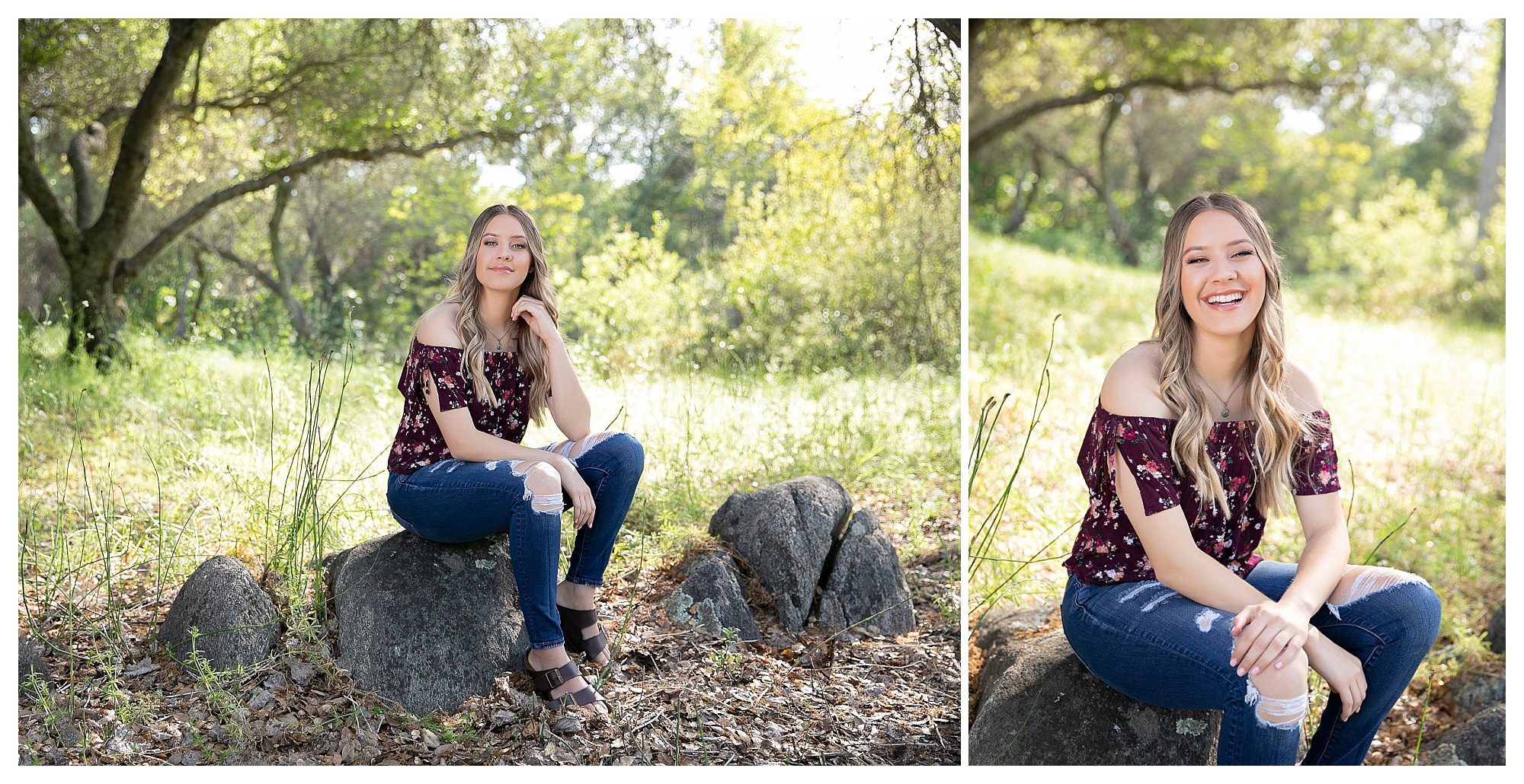 Senior high school girl spring portraits in Granite Bay California