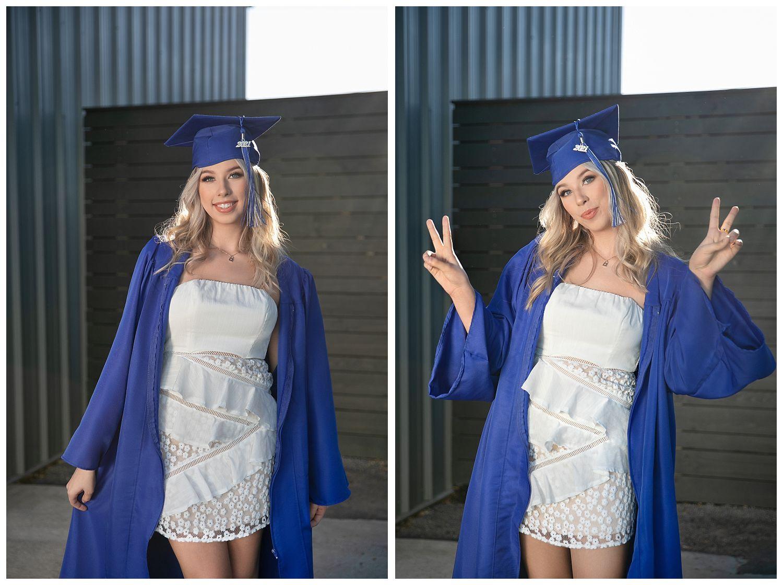 rocklin high school cap and gown senior portraits